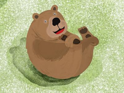 Yoga Bear animals yoga bear adobe digitalillustration illustration