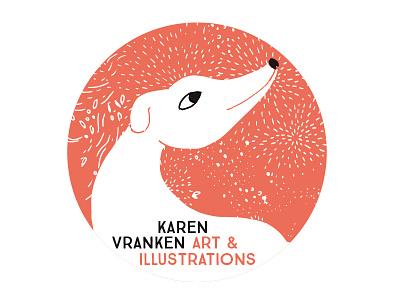 Happy dog avatar logo animals illustration