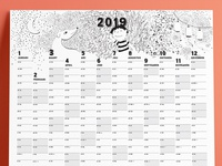Family calendar 2019 header illustration