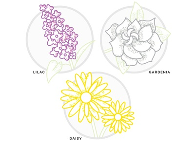 Morning Sketching - Flowers lines pixelation textures mornings daisies flowers plants illustrator vector sketching