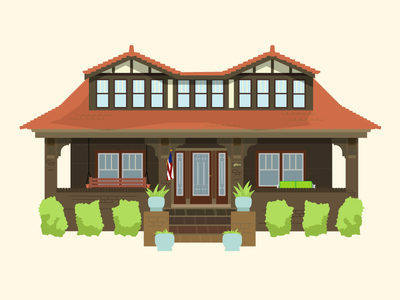 Residence Illustration illustrator prints flat illustration architecture