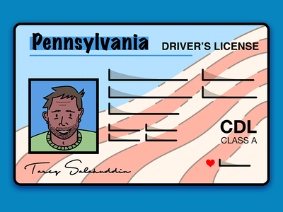 Driver License Request Spot Illustration lines vector ui illustration