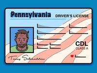 Driver License Request Spot Illustration