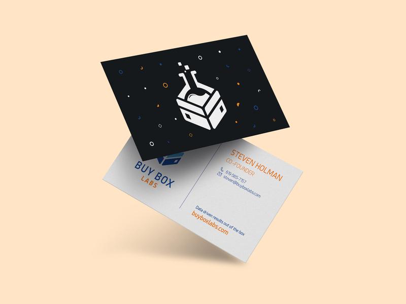 Buybox Labs amazon laboratory logodesign illustrator mockup business logo business card