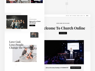 City Hills Church Website web design and development website design web design website web
