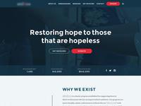 Charity Homepage Mockup