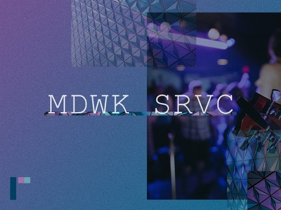 Mdwk Shot typography shapes pattern offgrid layout identity color