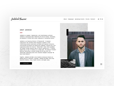 Jedidiah Thurner Website web ux web ui offgrid web design website