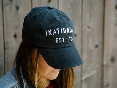 1Nation1Day Embroidered Dad Hat merch apparel black ball cap baseball hat dad hat hat embroidery