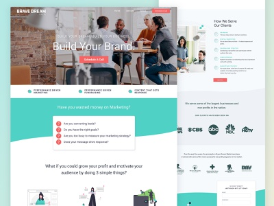 Redesign of Brave Dream Media website website design web ux web ui web design website