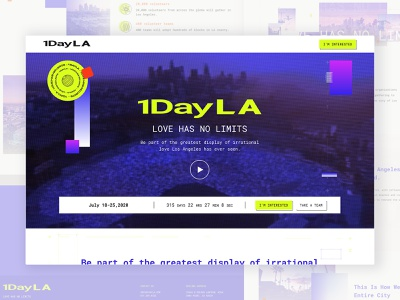 1DayLA Website Design webuiuxdesign webux webui design layout identity branding web design website