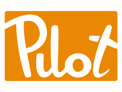 Pilot logo, boxed brand identity logo