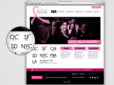 THE Breast Cancer Fundraiser breast cancer website nonprofit
