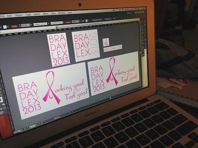 BRA DAY LEX 2013 breast cancer nonprofit illustrator logo