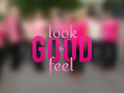 look good to feel good logo illustrator design ios 7 blur blur lettering