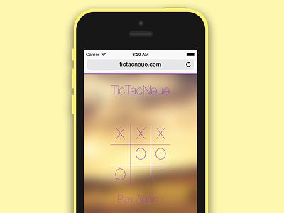 TicTacNeue game ios iphone 5c app website