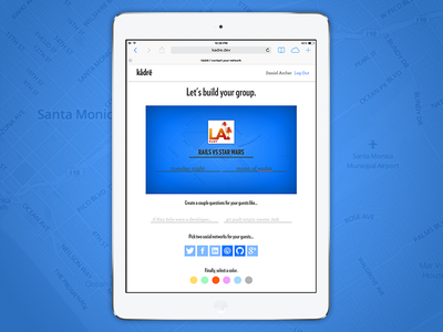 kådrë - Group Build Screen ios form web contacts wdi kadre rails typography