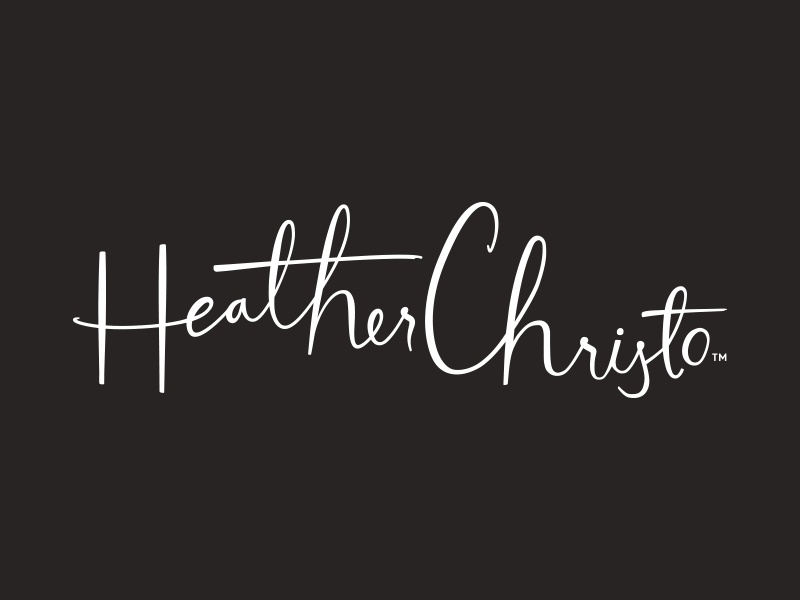 Heather Christo lettering script hand lettering typography lettering