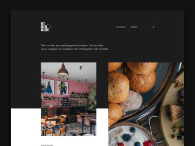 Het Klein Bestek — Restaurant landingpage