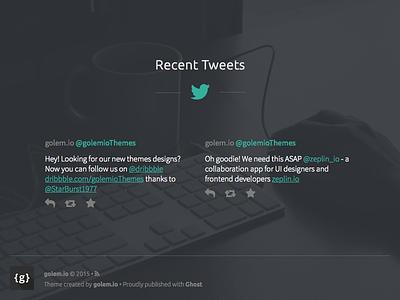 Twitter feed widget recent tweets twitter feed theme ghost blog footer widget