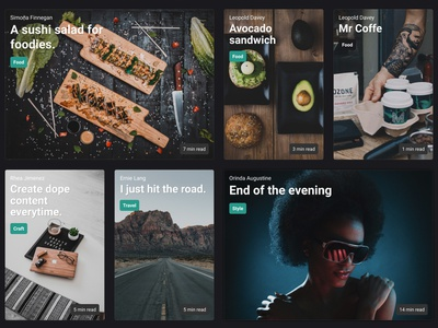 Partio Theme - preview #01 articles posts theme ghost blog