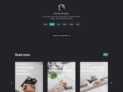 Partio Theme - preview #02 footer post theme ghost blog