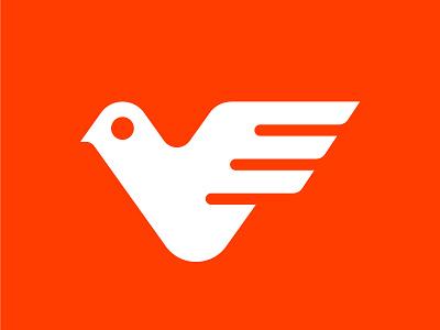 Bird Logo bold logo icon symbol logos identity design logotype geometric logo designer branding logo bird