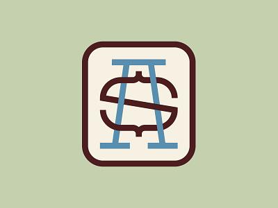 S+A logomark identity design monoline monograms brand identity logotype logo branding monogram