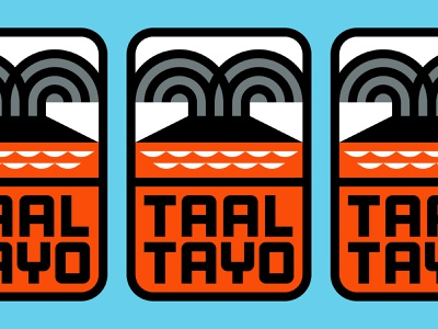 Taal Tayo brand identity logomark geometric logo illustration icon logo designer geometric logotype branding logo