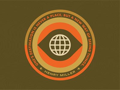 See The World adventure travel outdoor logo outdoor badge geometric icon illustration