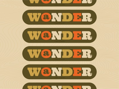 Wonder/Wander hiking travel logo travel type design type art adventure patch design patch outdoor badge outdoors badge design badge illustration