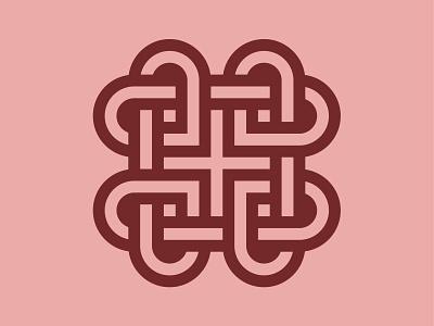 Love Knot logos symbol geometric logo logomark identity design icon logo designer branding geometric logo