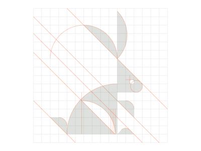 Bunny 02 logo grid logomark best logos logotype identity design branding logos animal logo bird logo logo maker logo designer logo
