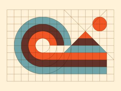 Surf's Up! midcentury modern modernist logo pattern design logo logo designer logo maker logos branding identity design logotype logomark logo grid
