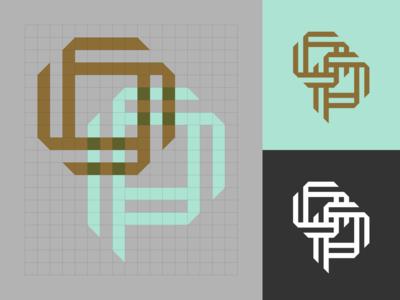 O+P Monogram symbol brand identity logotype bold logo monogram geometric logo logo designer simple logo identity branding identity branding logo