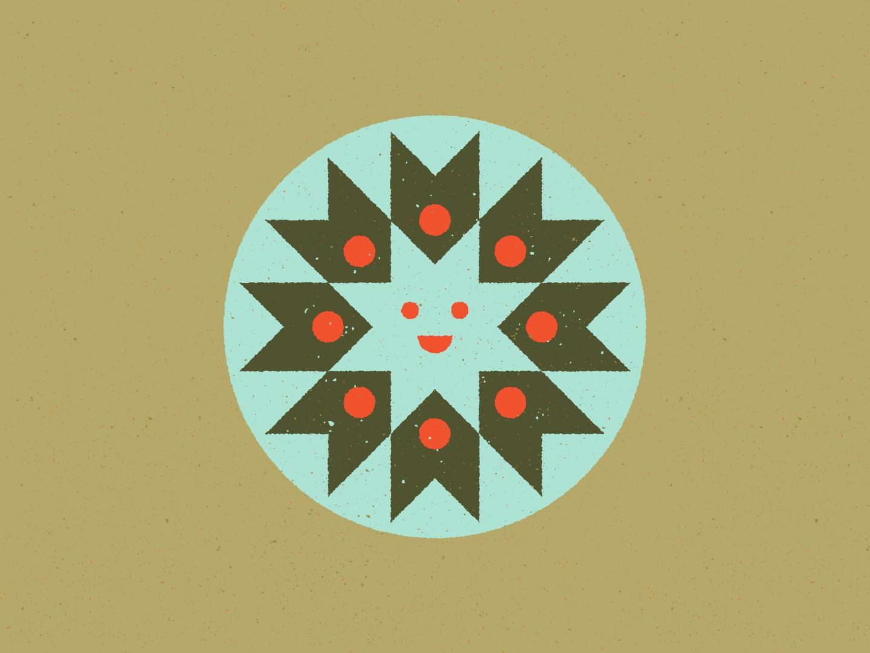 Happy Sun 03 smiley geometric art positive vibes icon design distressed vintage retro retro colors color palette midcentury illustration illustration sun