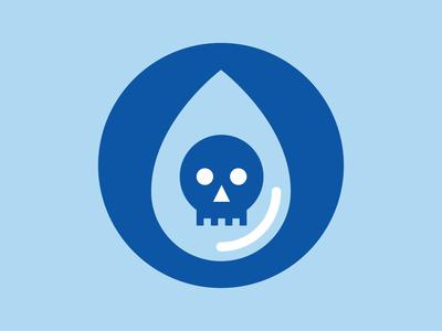 Water Contamination nonprofit water identity design geometric logo illustration infographics symbol iconography geometric icon icon logo art skull art skull logo logo waterdrop water icon