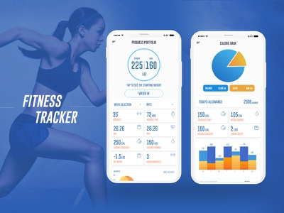 Fitness Tracker - Mobile Application ios graph dashboard analytics clean ui
