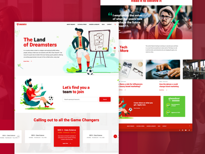Career / Job search landing page. portal web design web user interface responsive product career job search illustration website design website landing page design hero gradient