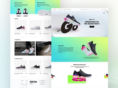 Nike Landing Page Design visual style layout ux web product design user interface website website concept minimal design product nike shoes website design typogaphy ui design ui