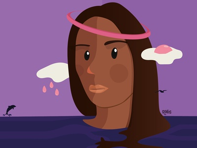 Honey Dijon character vector digital illustration illustration