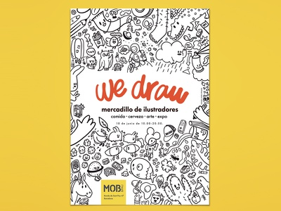 We Draw procreate poster graphic design design doodling doodle digital illustration illustration