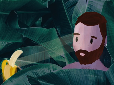 Banana Dribbble procreate digitalart gayart gay digitalillustration illustration