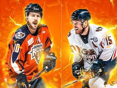 Ontario Reign Hockey action branding sports reign hockey