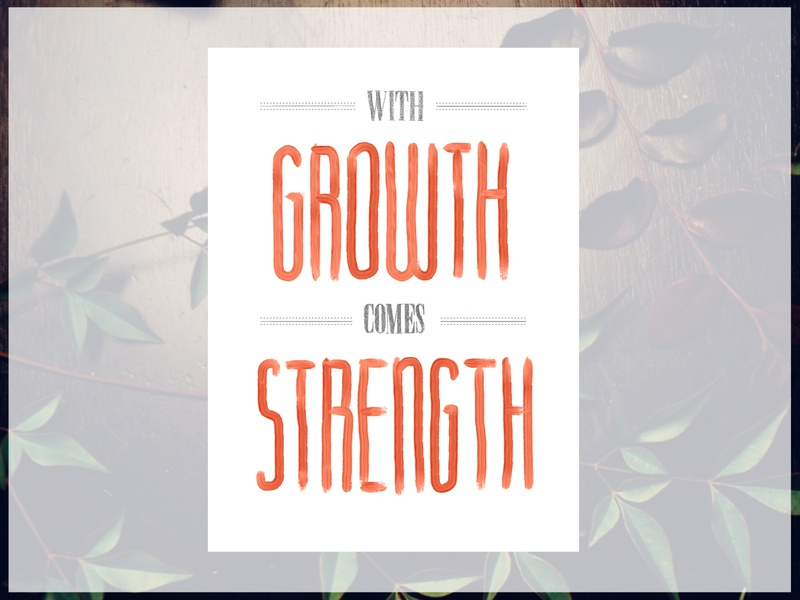 Growth handwritten type type daily type art typography