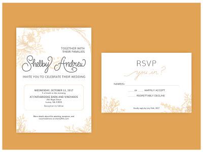 Wedding Invitations wedding invitation invitation lettering illustration design card wedding
