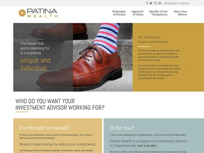 Patina Wealth website design flat gold coin web design design website web