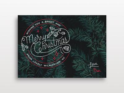 Christmas Card lettering design card christmas