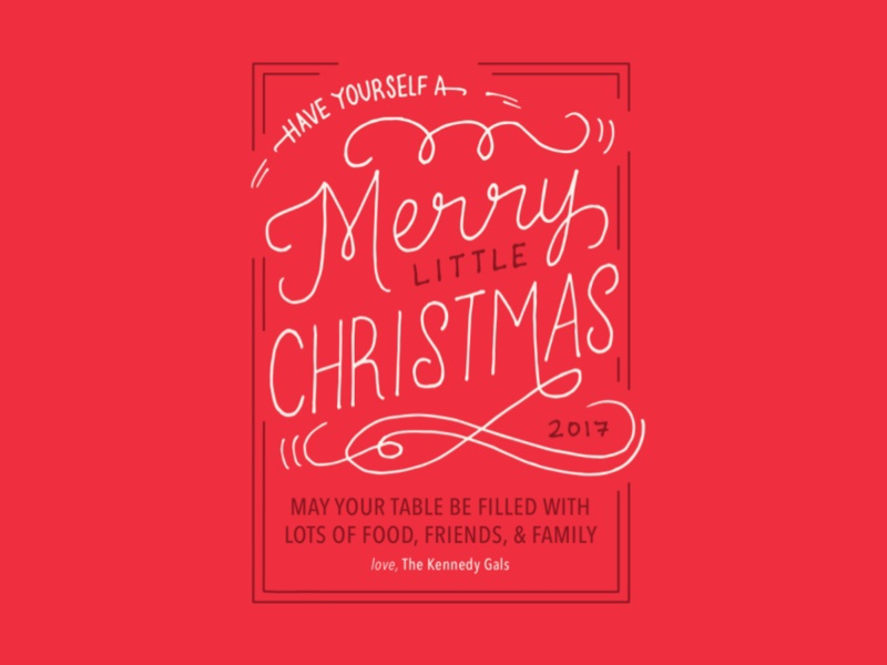 Christmas Lettering red lettering design card christmas