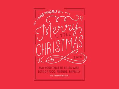 Christmas Lettering red lettering design card christmas
